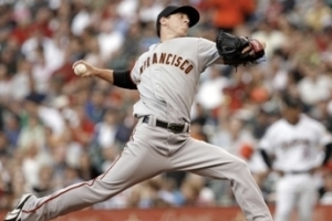 Lincecum struggled against the lowly Padres on Sunday.